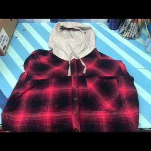 Eddie Bauer hooded flannel
